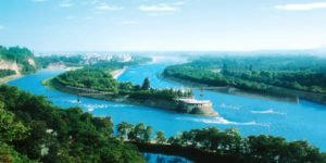 Section of the Dujiangyan Irrigation System