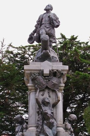 Statue of Ferdinand Magellan in Chile