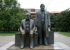 Statue of Karl Marx and Friedrich Engels in Berlin