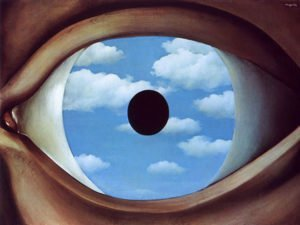 The False Mirror (1928) - Rene Magritte