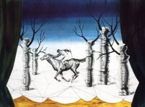 The Lost Jockey (1926) - Rene Magritte