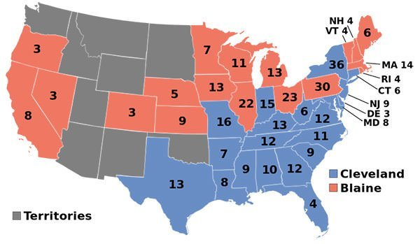 1884 US Presidential Election results