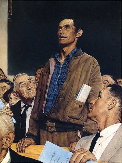 Freedom of Speech (1943) - Norman Rockwell