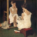 Girl at Mirror (1954) - Norman Rockwell