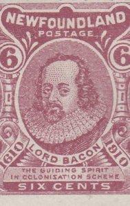 Newfoundland 1910 stamp honouring Francis Bacon
