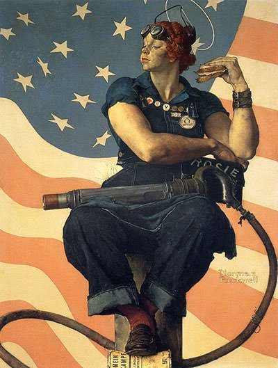 Rosie the Riveter (1943) - Norman Rockwell