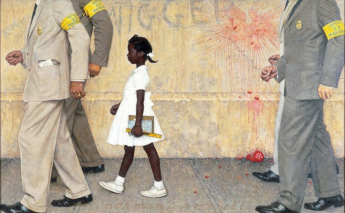 The Problem We All Live With (1964) - Norman Rockwell