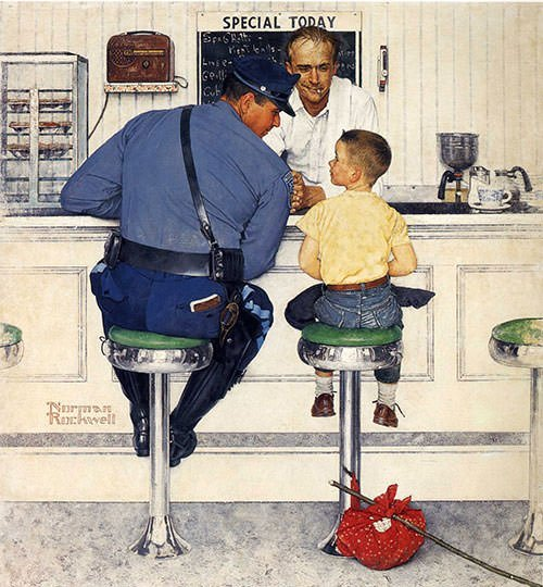 The Runaway (1958) - Norman Rockwell