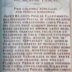 Blaise Pascal epitaph