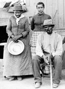 Harriet Tubman with her adopted daughter and her husband