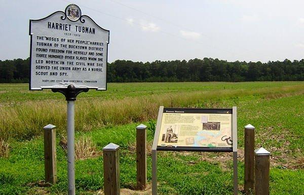 Plantation where Harriet Tubman was born
