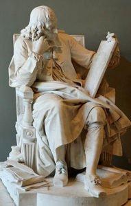Blaise Pascal statue by Augustin Pajou