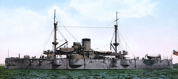 The battleship USS Texas