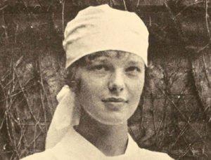 Amelia Earhart as a trainee nurse