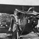 Amelia Earhart with her Kinner Airster