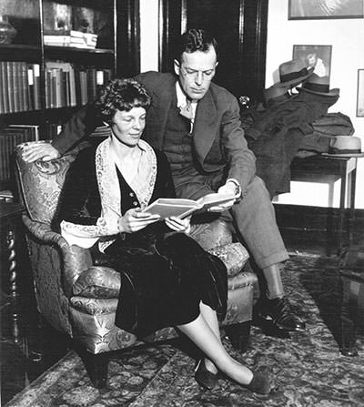 Amelia Earhart with her husband George Putnam