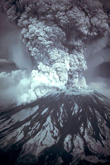 Mount St Helens on May 18, 1980