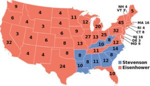 1952 US Presidential Election map