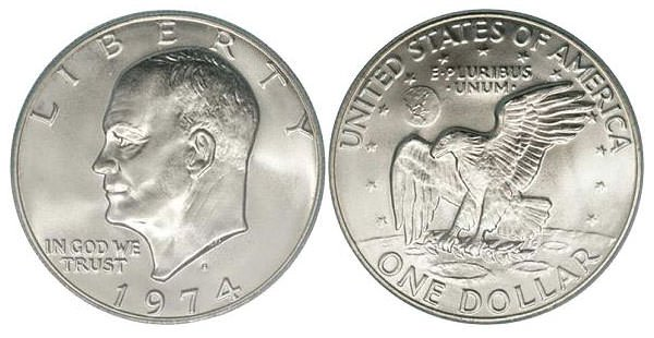 Eisenhower one dollar coin