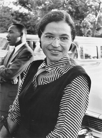 Rosa Parks and her mother