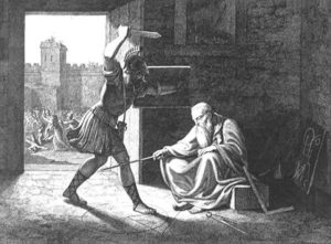 Depiction of Archimedes' death