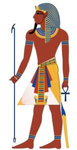 A typical depiction of a pharaoh