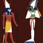 Ancient Egyptian Gods Horus and Osiris