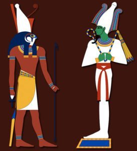 Ancient Egyptian Gods Horus and Osiris