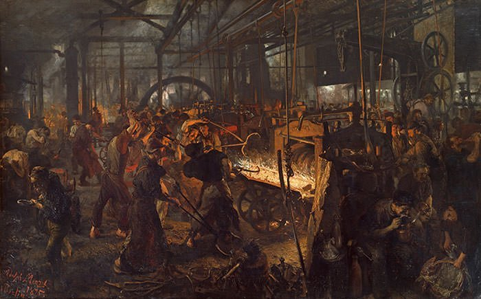 Eisenwalzwerk, Iron Rolling Mill (1875)