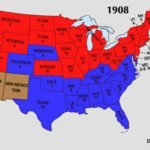 1908 US Presidential Election Map