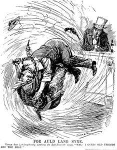 Cartoon on Taft-Roosevelt quarrel