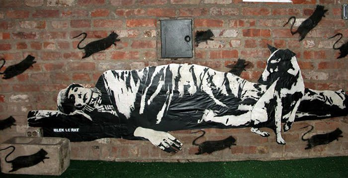 New York graffiti by Blek le Rat