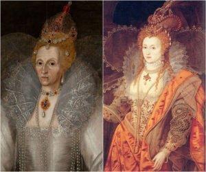 Two contrasting portraits of Elizabeth I