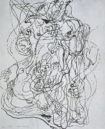 Automatic drawing by Andre Masson
