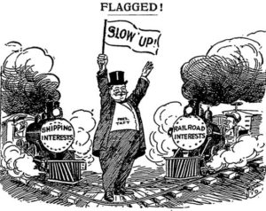 President Taft railroad price hike cartoon