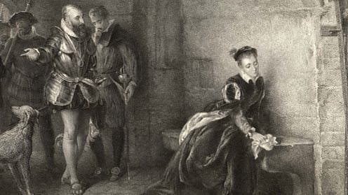 Elizabeth I being held prisoner in the Tower of London