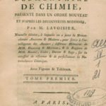 Elementary Treatise of Chemistry by Antoine Lavoisier
