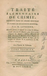 Elementary Treatise of Chemistry by Antoine Lavoisier