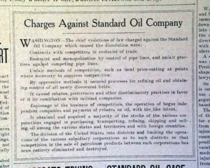 Report on Rockefeller's Standard Oil Company