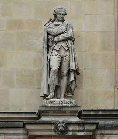 Antoine Lavoisier statue in Paris