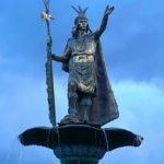 Inca emperor Pachacuti statue
