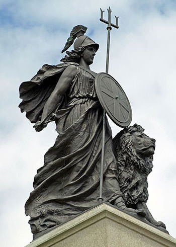 Statue of Britannia in Plymouth