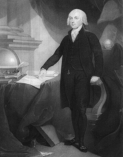 Engraving of President James Madison