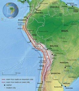 Inca Road System map
