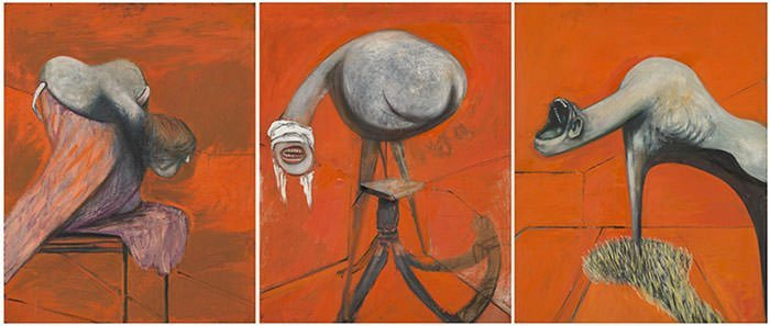 Three Studies for Figures at the Base of a Crucifixion (1944)