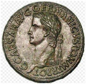 Caligula Roman coin