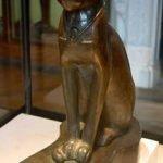 Bronze statue of cat goddess Bastet