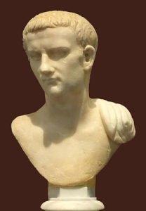 Bust of Caligula in Rome