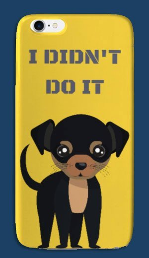 I-phone case with cute dog