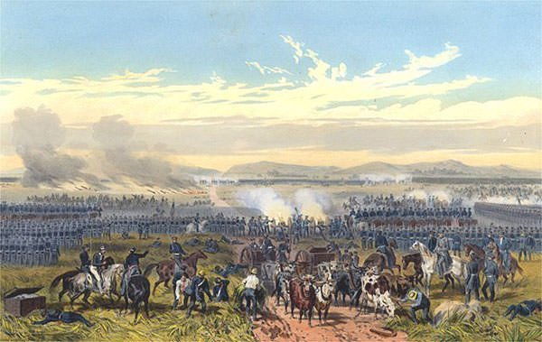 Battle of Palo Alto painting